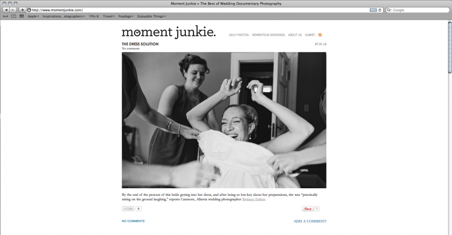 Featured on Moment Junkie