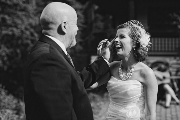 Touching moment between father and daughter on her wedding day