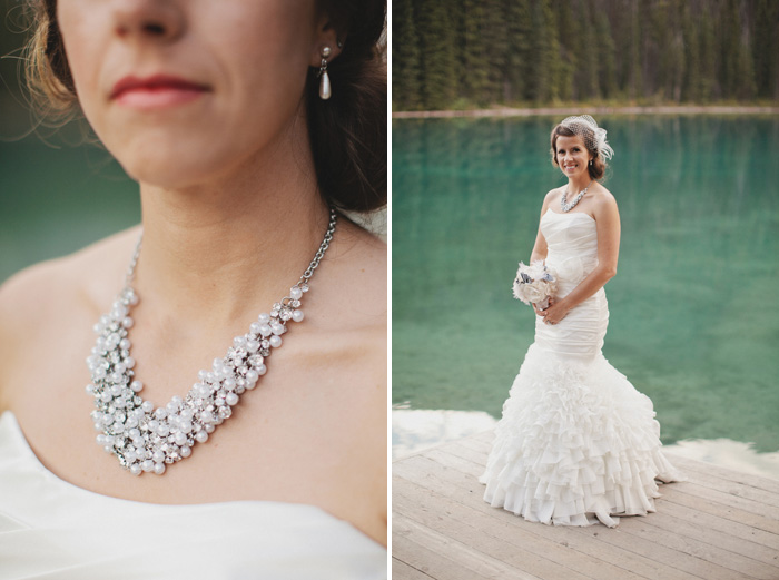 A bride's handmade necklace