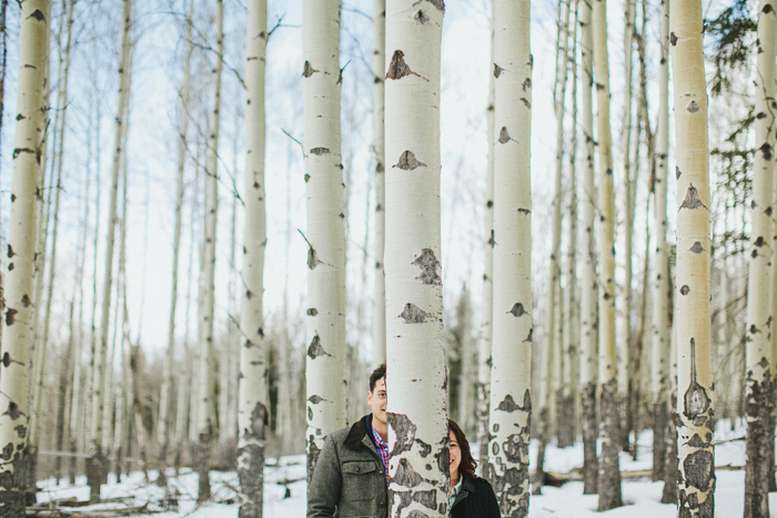 A wintery Banff engagement session in the Canadian Rockies