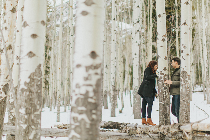 Outdoor Canadian Rockies engagement photography