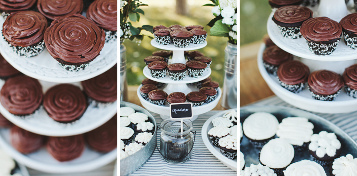 Chocolate wedding cupcakes made with mother's recipe