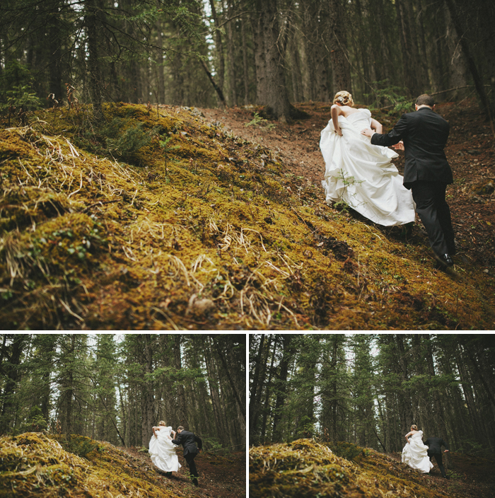 Because really awesome people climb for their wedding photos