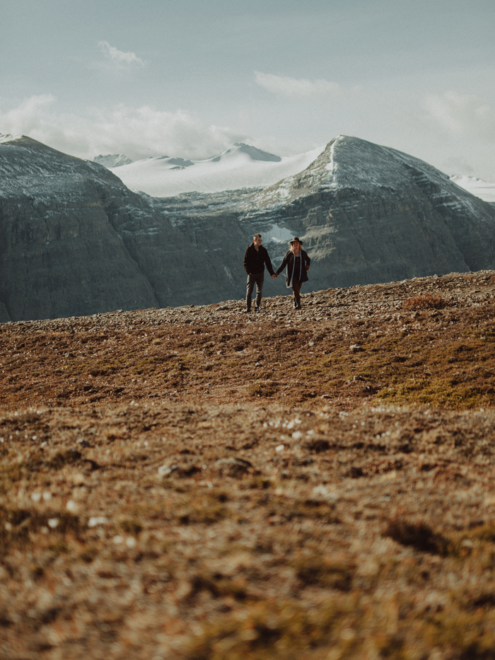 Adventureful engagement session in Banff National Park in western Canada